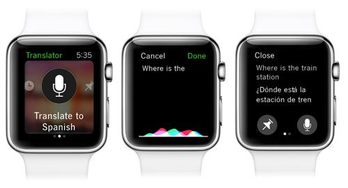 Microsoft Translator for the Apple Watch