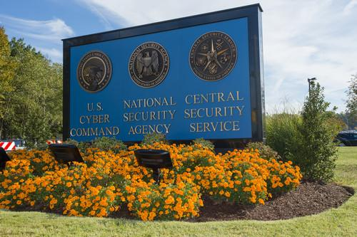 The sign outside the National Security Agency headquarters in Fort Meade, Maryland
