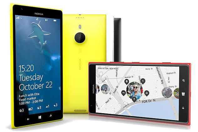 The Nokia Lumia 1520 smartphone.