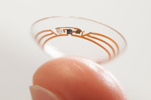 Google says it's testing a contact lens that would use tears to measure glucose levels in people with diabetes.