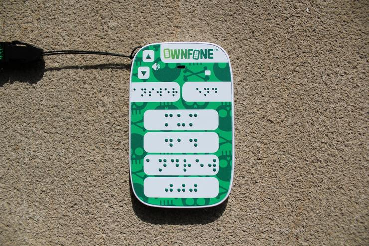 The OwnFone braille mobile is bespoke for each user