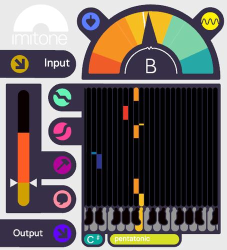 Imitone's desktop app, which converts a person's singing into MIDI notes.
