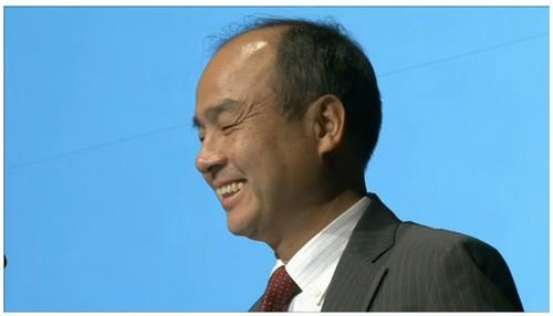 SoftBank CEO Masayoshi Son speaks at an earnings briefing in Tokyo on Friday.