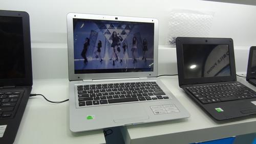 Android laptop on Computex show floor