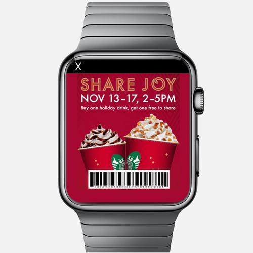 An ad on Apple's Watch, envisioned by mobile ad platform TapSense.