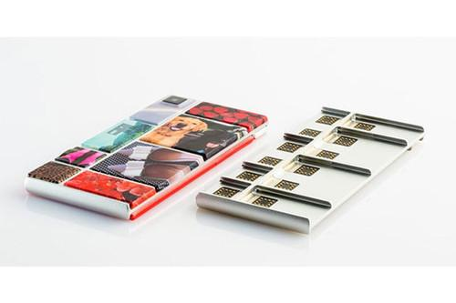 A series of cryptic Twitter messages implied changes are in store for Google's Project Ara. Shown here is a smartphone that's part of the program, which lets people piece together modular components to construct a device.