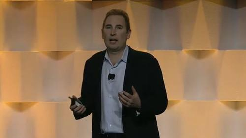Andy Jassy, head of AWS, at the Amazon Web Services Summit in San Francisco