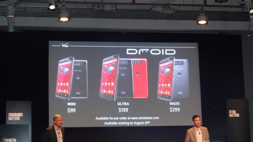 Droid Ultra, Mini and Maxx pricing and availability