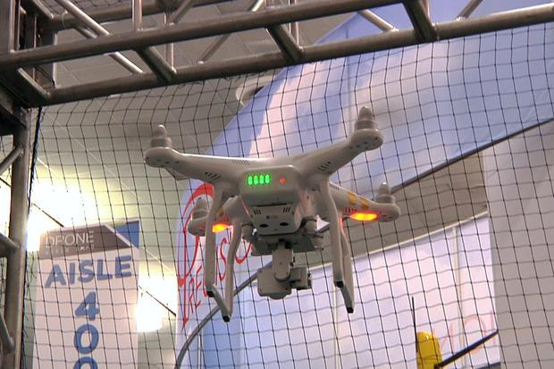 A DJI Phantom 3 drone seen during a demonstration in San Jose, California, on Nov. 17, 2015. Credit: Martyn Williams