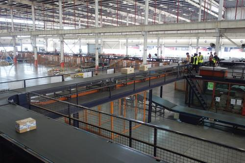 The packaging center at YTO Express.