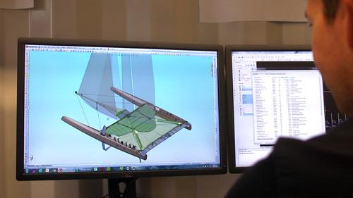 Teams in the America's Cup use software to model design changes to their boats