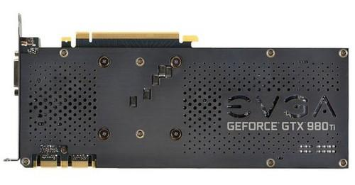 The EVGA GeForce GTX 980 Ti Superclocked+'s backplate.