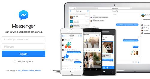 Facebook's Messenger app is now accessible as a standalone web app.