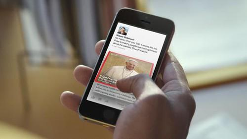 In Facebook's new Paper app, stories appear to unfold as they are opened