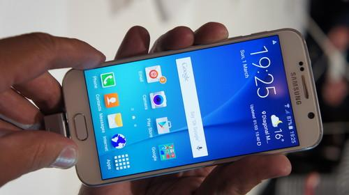 The Galaxy S6 has a 5.1-inch QHD display.