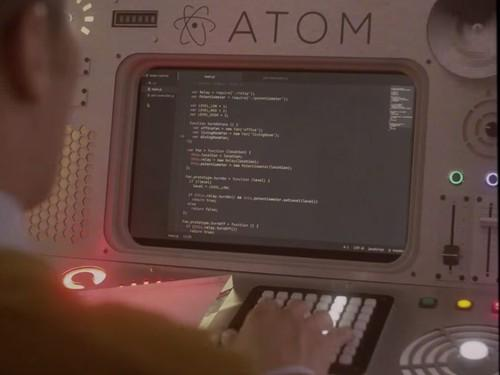 To promote its new Atom text editor, GitHub put together a fanciful promotional video that portrayed Atom as a legacy computing console