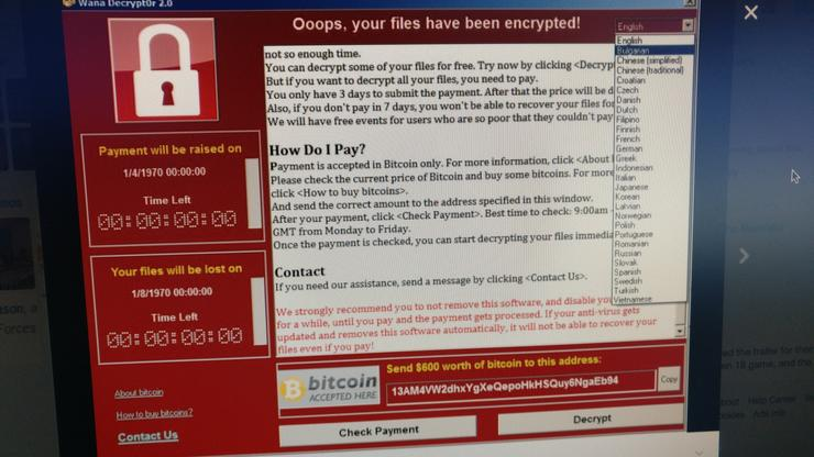 Massive ransomware attack hits 74 countries