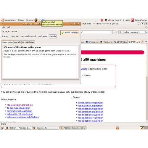 Using a third-party package: If your distribution's package manager doesn't offer the software you want, you might still find a third-party package in a downloadable file. Most files with a .deb extension will work under Ubuntu. Double-clicking them from a file browser should bring up the built-in package installer, as shown here.