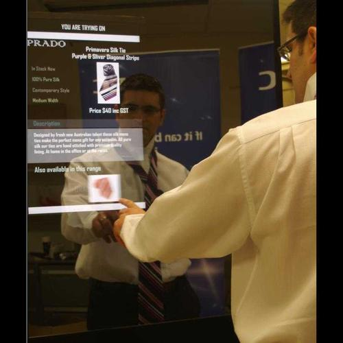 The EPCmagic mirror in action.