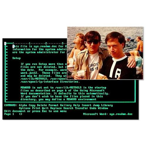 Enter Microsoft -- and Xenix: Simonyi (at left of inset photo), developer of Xerox Bravo, joined up with Microsoft after he received an offer from Bill Gates in 1981.