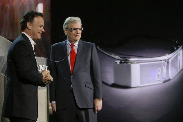 """You can connect to any public hotspot and send photos of Tom Hanks to your favorite photo-sharing site,"" said Sony CEO Howard Stringer while showcasing the new Sony G3 Cybershot camera, which includes Wi-Fi."