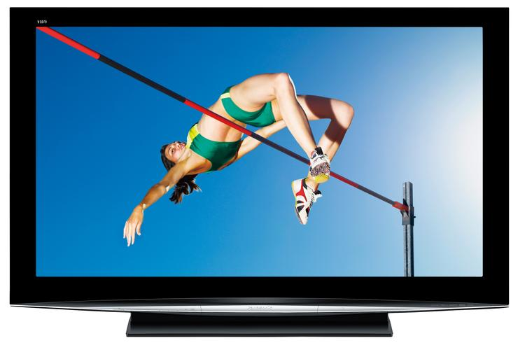 New plasma panels have high contrast ratios such as the 1000000:1 rating of the Panasonic TH-50PZ850A plasma television.