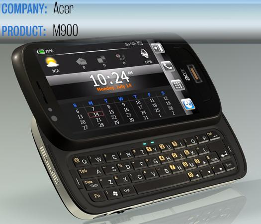 The Acer M900 smartphone.