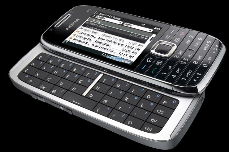 Nokia's E75 smartphone includes the new Nokia Messaging service