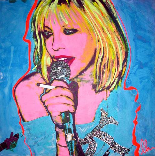 Courtney Love: not a fan of plastic guitars.