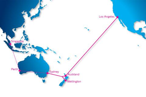 Pacific Fibre's proposal would see a 13, 000km fibre cable stretching from Sydney to Los Angeles via Auckland and Wellington.
