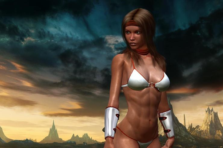 Tyris Flare, star of the awful Golden Axe: Beast Rider