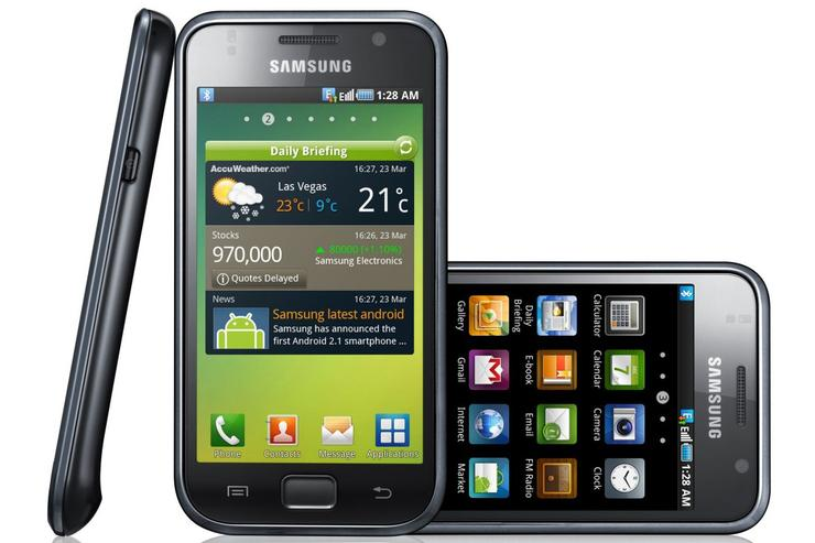 Samsung's Galaxy S Android smartphone.