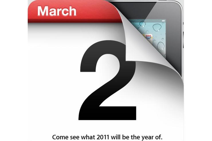Apple will unveil the iPad 2 on March 2 (Image credit: Engadget)