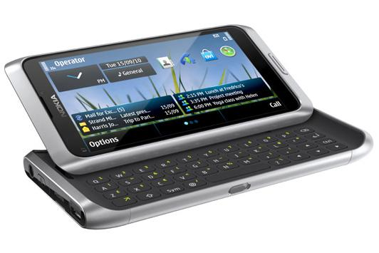 Nokia's E7 smartphone; coming this month to Optus and Vodafone