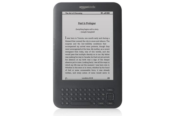 The Amazon Kindle 3.