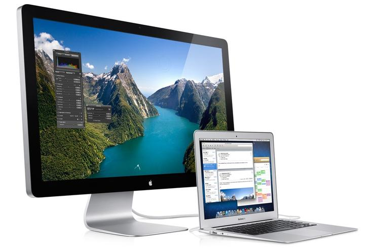The new Apple MacBook Air and Thunderbolt Display.