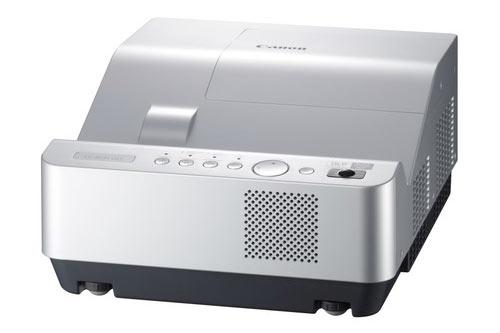 """Canon announced its first """"ultra short-throw"""" projector, which can produce an 80-inch image from an inch away."""