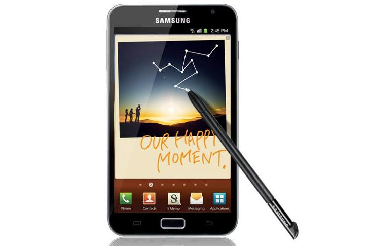 Samsung Galaxy Note: available this month through Telstra