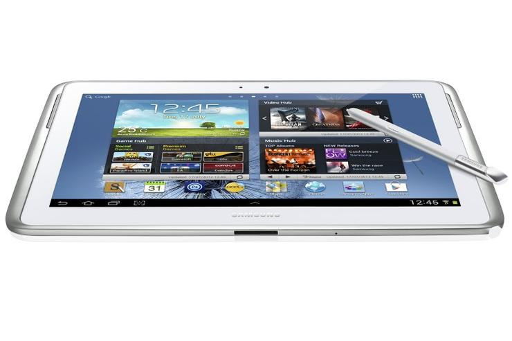 "Samsung's Galaxy Note: available now in Australia, but 3G models are ""coming soon""."