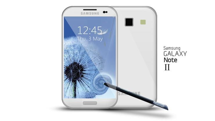 A concept impression of what the Samsung Galaxy Note 2 could look like. (Image credit: Ubuntu Life.net)