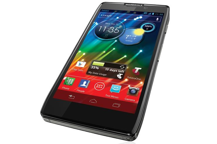 The 4G-capable Motorola RAZR HD, coming soon to Telstra.