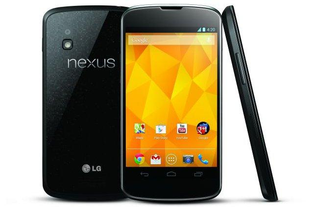 The Google Nexus 4: available through Harvey Norman from 1 February