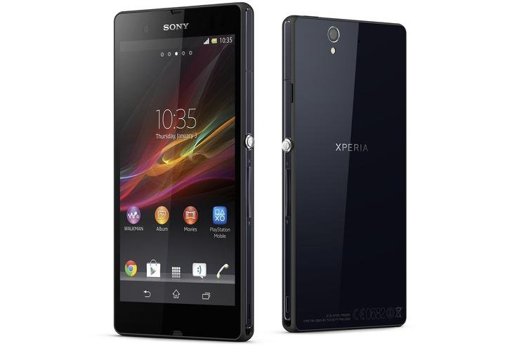 The Sony Xperia Z Android smartphone.