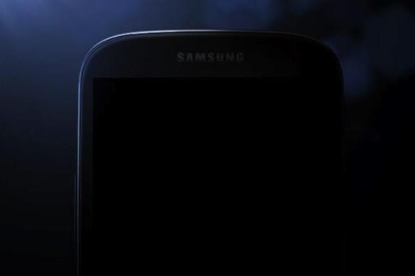 A teaser image of the Galaxy S IV, which Samsung published overnight.