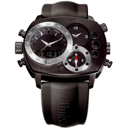 The Timberland HT2 wristwatch gives you the time in several time zones, your altitude, the temperature and barometer readings, a stopwatch and even a compass.