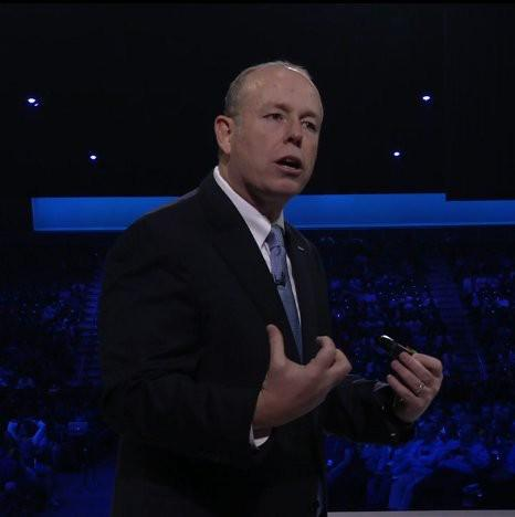 Microsoft Chief Operating Officer Kevin Turner, at the Microsoft World Wide Partner Conference, July 15, 2015.