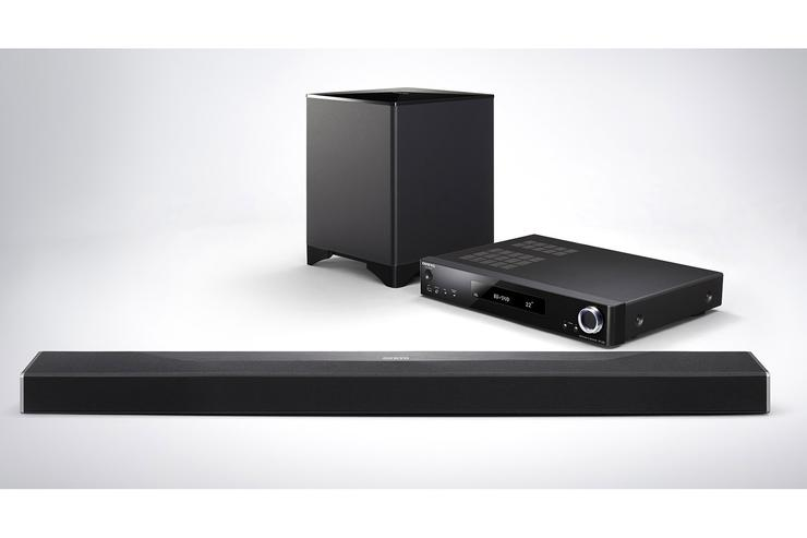 The guts of Onkyo's SBT-A500 sound bar come in an external ...