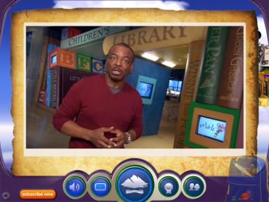 LeVar Burton hosts videos on the Reading Rainbow app.