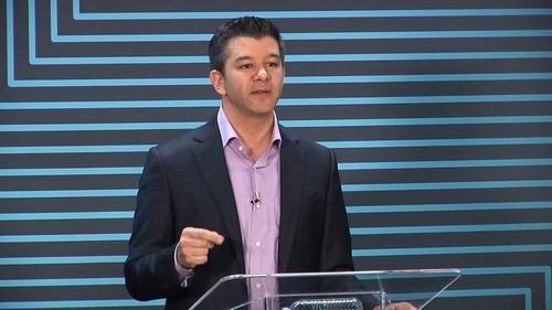 Uber CEO Travis Kalanick, speaking at the company's headquarters in San Francisco on June 3, 2015.
