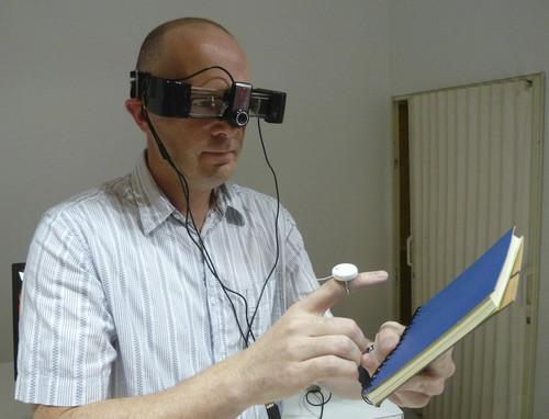 DoCoMo shows 'touch display' for computer glasses